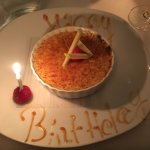 birthday creme brulee