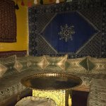 The room where we ate our delicious Moroccan meal.