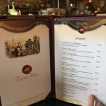 What a menu! Should have eaten dessert first! No room after salad and Stromboli
