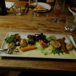 side order of seasonal veg- boudin noir and scallops