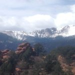 Pike's Peak from Siamese Twins trail in Garden of the Gods