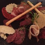 Appetizer of cured meats from Ontario.