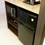 Kitchenette with Microwave, Fridge, Coffee Pot