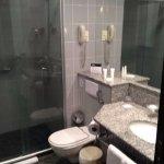 the bathroom, it was ok. hot water was plentyful.