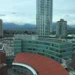 View from 12th floor room.   Parking is $12 per night with a great excuse that everyone, even em