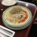 """Brent's Deli """"kinahora"""" matzo ball soup!"""