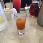 "Jugo de Limon y Chile - ""A shot of fresh-squeezed lemon and lime juice with chile powder""  It wi"