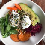 Healthy versions of hipster food. Cool staff. They know cawfee. It's cool it's next to hands lan
