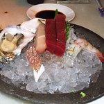 Pieces of sashimi