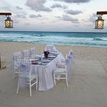 Bridal Shower dinner on the beach