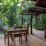 Beautiful garden aspect for breakfast dining