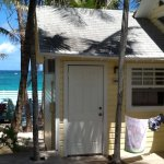 Our beach hut. Comfortable and great location