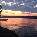 Sun set at the Ottawa river across from the Abadin B&B