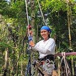 Climbing the canopy zipline
