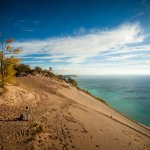 Sleep Bear Dunes - Note the people walking up the dunes. This thing is HUGE