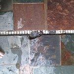 Broken tiles at pool to get cut on