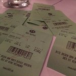 Green slips for each buffet visit make it easy to track your spending