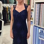 Navy chantilly lace