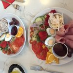 Delicious ham salad and tuna salad, best salads we have ever had! Such a wonderful variety  flav