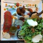 Salade caesar et galette montagnarde