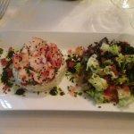 salade d'avocat ,crabe et homard (selon saison )