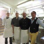 l'équipe sympa en cuisine