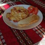 Breakfast sometimes involves an omelette
