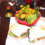 Roast Beef Sandwich with side salad