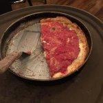 Medium Deep Dish Pizza (Half gone!)