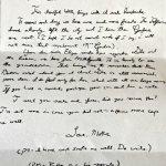 Letter written in 1864