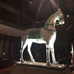 Horse statues in the lobby