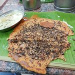 Adai with banana flower (vallapoo)