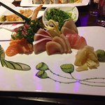 Delicious sashimi and rolls!