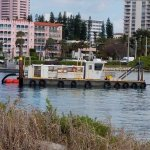 Dredging along the inlet.