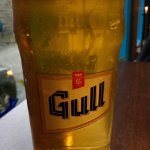 Wash your meal down with light-tasting Gull beer