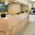 Hotel Lobby that Offers Express Check-Out and Early Check-in (based on availability)