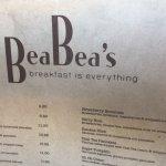 Beautiful Breakfast at Bea Bea's