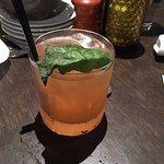 strawberry lemon basil cocktail