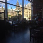 Inside and outside view of the Square from the Cafe Rouge