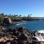 Looking south toward Napili Point from the diving rock opposite the Cliff House at Kapalua!