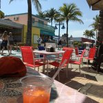 Wow love this spot!First day in ft Myers beach and found outdoor seating, live music, great run