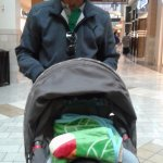 In the mall with my Grand son