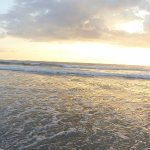 Panoramic of Playa Guiones as the Sun Sets