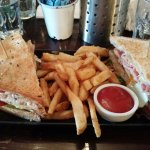 Signature sandwich with chips. Chips was very crunchy. Huge portion.