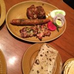 Kababs and roomily roti.