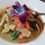 Green Curry--the orchid is edible!