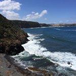 The rugged coast a short drive away, 5 km, or walk.