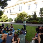 Craig telling a story in front of the Government House