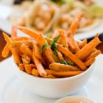sweet potato fries with chipotle aeoli