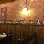 The wall of hot sauce at Lula's in Owosso, Michigan